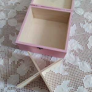 rózsaszín- rózsaarany 4 fakkos teafilter tartó fa doboz (teásdoboz, ékszerdoboz) - otthon & lakás - konyhafelszerelés - tea & kávé tárolás - Meska.hu