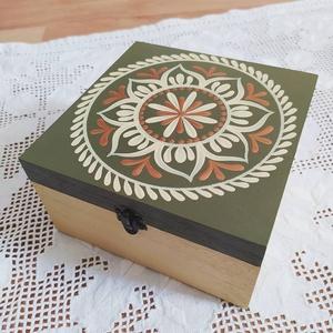 Mandala 4 fakkos teafilter tartó fa doboz (teásdoboz, ékszerdoboz) - Meska.hu