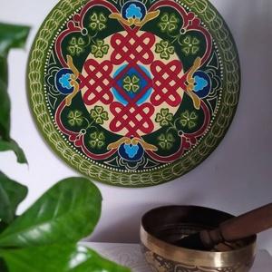 Tibeti szerencsehozó mandala festmény, Otthon & Lakás, Mandala, Dekoráció, Festészet, Meska
