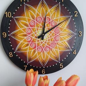 Mandala óra, Otthon & Lakás, Lakberendezés, Festett tárgyak, Egyéni szinösszeállítás szerint. , Meska