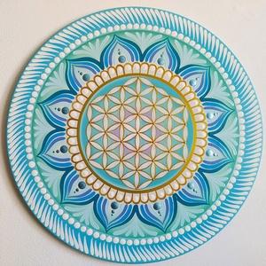 Élet virága mandala, Otthon & Lakás, Dekoráció, Mandala, Festészet, Meska