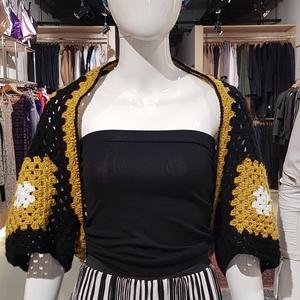 Horgolt bolero mustár, Bolero, Női ruha, Ruha & Divat, Horgolás, Egyedi, kézzel horgolt bolero, mely kiegészíti öltözékünket.\nMás színben is rendelhető, de amennyibe..., Meska