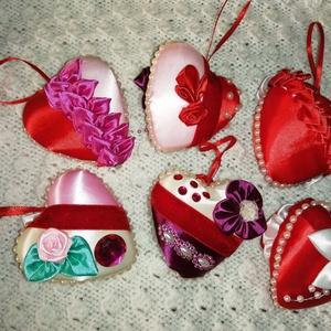 Anyák napjára szívemből szívesen, Otthon & Lakás, Dekoráció, Dísztárgy, Patchwork, foltvarrás, Anyák napjára kedves meglepetés, szívből szívesen romantikus megjelenésű, kanzashi technikával készü..., Meska