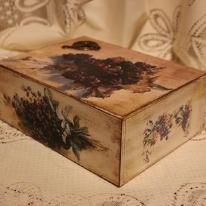 Szőlő mintás dobozka (Szanimama) - Meska.hu