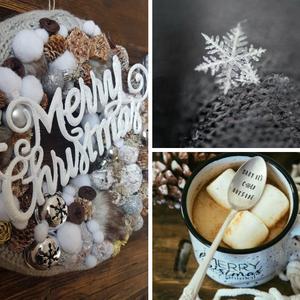 Christmas, Lakberendezés, Otthon & lakás, Ajtódísz, kopogtató, Koszorú, Dekoráció, Virágkötés, Egy 25 cm-es alapra ragasztottam barna és narancs terméseket.Egy karácsonyi feliratot ragasztottam a..., Meska