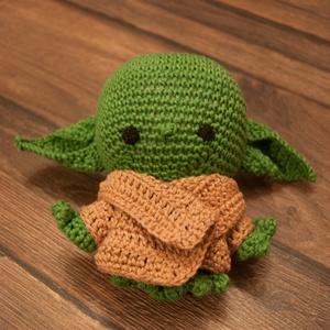 Baby Yoda, Más figura, Plüssállat & Játékfigura, Játék & Gyerek, Horgolás, Varrás, Ha rám kattintottál úgy is tudok ki vagyok.\nAz erő vezessen a kosárig !, Meska