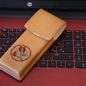 Bőr tolltartó (szaporli) - Meska.hu