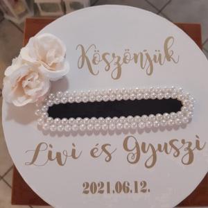 Esküvői pénzgyűjtő doboz, Esküvő, Emlék & Ajándék, Doboz, Virágkötés, Meska