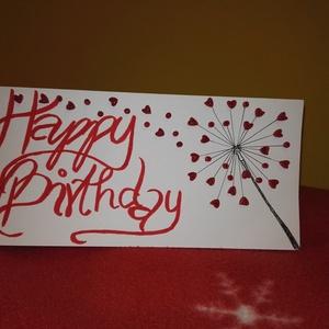 Szülinapi képeslap - pitypangos, Otthon & lakás, Naptár, képeslap, album, Képeslap, levélpapír, Dekoráció, Ünnepi dekoráció, Ajándékkísérő, Papírművészet, Happy birthday feliratú pitypangos képeslap\n\nKedveskedj családtagjaidnak, barátaidnak ezzel a szép t..., Meska