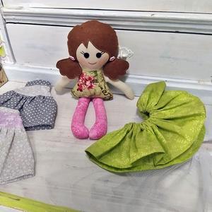 Flóra -Öltöztethető textil baba - Meska.hu