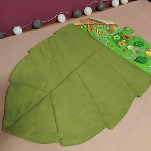 Játszószőnyeg - zöld levél ll., Játék & Gyerek, Készségfejlesztő & Logikai játék, Varrás, Meska
