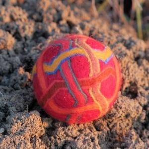 Arabesc, Művészet, Textil, Nemezelt, Nemezelés, nyersanyagboltban beszerzett festett merinó birkagyapjú valamint szintén festett merinó gyapjúfonál...., Meska