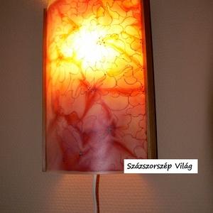 Selyemfestett virágos dekor lámpa (SzazszorszepVilag) - Meska.hu