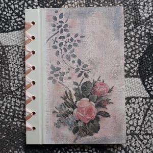 Esküvői vendégkönyv- emlékkönyv, Vendégkönyv, Emlék & Ajándék, Esküvő, Mindenmás, Festett tárgyak, Az  A5-s méretben készült naplót ünnepi alkalmakra ajánlom, (pl.: születésnap, esküvői vendégkönyv, ..., Meska