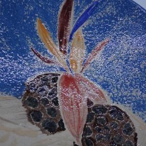Tál ikebana képpel - Meska.hu