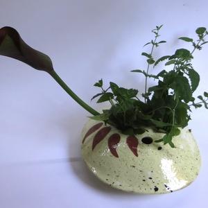 Ikebana tartó, Otthon & lakás, Dekoráció, Lakberendezés, Asztaldísz, Kerámia, A virágtartó alkalmazkodik az ikebana készítés ajánlásaihoz - a felhasználható virágok, ágak kisebb-..., Meska