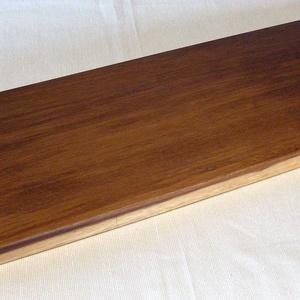 Kínáló 4, Tálca, Konyhafelszerelés, Otthon & Lakás, Famegmunkálás, Mahagóni fából készült tálca, kínáló.\nMérete: 47 x 15 x 2.5 cm. Természetes, nehéz viaszolajjal felü..., Meska