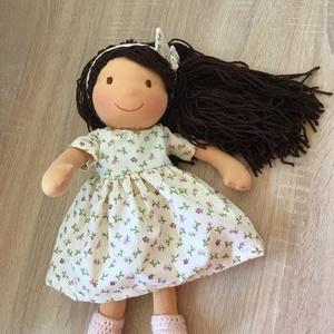 Waldorf baba, Játék & Gyerek, Baba & babaház, Öltöztethető baba, Baba-és bábkészítés, Varrás, 38 cm gyapjűval töltött baba. Haja  egyenként rögzítve van egy haj alapra fésülhető nagy fogú fésüve..., Meska