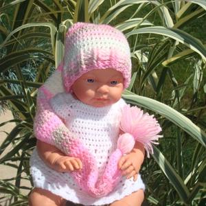 Manó babasapka babafotózásra , Gyerek & játék, Táska, Divat & Szépség, Gyerekruha, Ruha, divat, Baba (0-1év), Horgolás, Manó fazonú babasapka rózsaszín\nszínösszeállításban bababarát fonalból. \n\nFonala batikolt,középvasta..., Meska