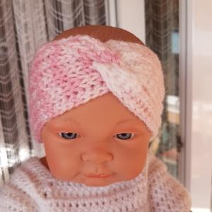 Kötött baba fejpánt,fülvédő., Táska, Divat & Szépség, Ruha, divat, Gyerekruha, Baba (0-1év), Kötés, Puha,meleg rózsaszín-lila színárnyalatú kötött fejpánt újszülött,1-2 hónapos babának.\nSzélessége 7 c..., Meska