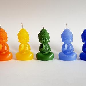 Csakra BuddhaGyerek Gyertya Kollekció, Lakberendezés, Otthon & lakás, Gyertya, mécses, gyertyatartó, Dekoráció, Képzőművészet, Gyertya-, mécseskészítés, Csakra BuddhaGyerek Gyertya Kollekció\n\nBuddha gyertyák a 7 fő csakránk színeiben.\nKollekció, tehát ő..., Meska