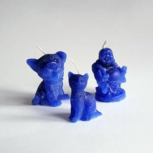 Kék gyertya csomag (Szerelmesgyertya) - Meska.hu