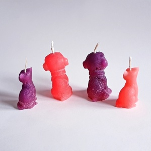 Pink gyertya csomag (Szerelmesgyertya) - Meska.hu