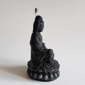 Fekete Ülő Buddha Gyertya (Szerelmesgyertya) - Meska.hu