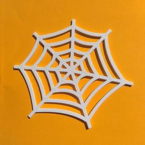 Pókhálós poháralátét, Otthon & lakás, Dekoráció, Ünnepi dekoráció, Lakberendezés, Asztaldísz, Mindenmás, A Halloween-buli elengedhetetlen kelléke a poháralátét.\nEzzel a pókhálós változattal feldobhatod az ..., Meska