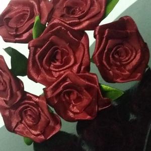 7 szálas bordó rózsacsokor (Szevimamarozsakertje) - Meska.hu