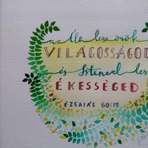 Ézsaiás 60:19 - művészet - festmény - akvarell - Meska.hu