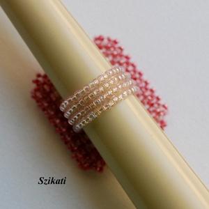 Egyedi gyöngyfűzött koktélgyűrű (szikati) - Meska.hu