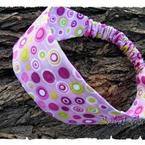 Textil hajpánt gumival- pöttyös (Szilvadekor) - Meska.hu