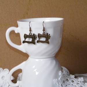 Singer varrógép fém fülbevaló, Ékszer, Fülbevaló, Ezzel a fülbevalóval igazán jópofa kiegészítőre találtál! :)  Saját magadnak, vagy ajándékba is megf..., Meska