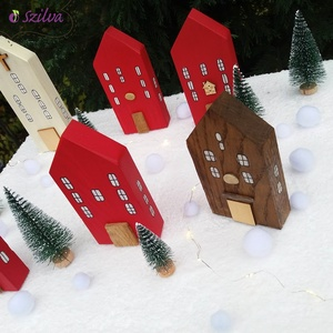 Karácsony falu PIROS - Meska.hu
