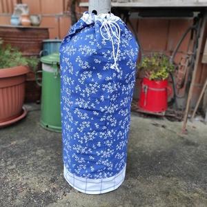 Gázpalack ruha kékfestős mintával, Otthon & Lakás, Lakástextil, Legyen stílusa a gázpalackodnak is! Főleg, ha látható helyen van! Sokszor nagyon koszosak és csúnyák..., Meska