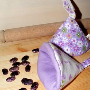 Ibolyás-romantikus konyhai textil szett (Szilvadekor) - Meska.hu