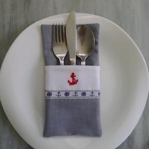 Vízparthoz hangolva..., Otthon & Lakás, Konyhai dísz, Konyhafelszerelés, Szép terítéknél kellemes az ebéd, a vacsora... Ez az evőeszköztartó megszépíti a vacsora asztalt. A ..., Meska