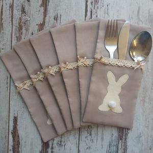 Húsvéti evőeszköztartó, Otthon & lakás, Konyhafelszerelés, Lakberendezés, Asztaldísz, Szép terítéknél kellemes az ebéd, a vacsora... Ez az evőeszköztartó megszépíti a vacsora asztalt. A ..., Meska