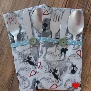 Kétszemélyes vacsora Valentin napra..., Otthon & Lakás, Konyhafelszerelés, Konyhai dísz, Szép terítéknél kellemes az ebéd, a vacsora... Ez az evőeszköztartó megszépíti a vacsora asztalt,  f..., Meska