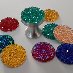 Design fogantyú gomb! Dragon, Otthon & Lakás, Bútor, Bútorfogantyú, Fémmegmunkálás, Bútor fogantyú egyedi design. Saját tervezésű alumínium fogantyú alapra van ragasztva egy akrill 3Ds..., Meska