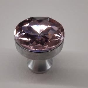 Design fogantyú gomb! Üveg kristály, Otthon & Lakás, Bútor, Bútorfogantyú, Fémmegmunkálás, Bútor fogantyú egyedi design. Saját tervezésű alumínium fogantyú alapra van ragasztva egy üveg krist..., Meska