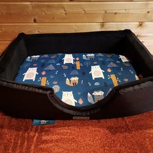 Minőségi, vízálló, lehúzható és mosható kutyafekhely, Otthon & Lakás, Kisállatoknak, Kutyáknak, Varrás, -Mérete: 50 cm  X 35 cm ; perem magassága 15 cm;  fekvőfelülete 3 cm vastag\n-Cipzáron keresztül eltá..., Meska
