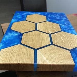 Hexagon vágódeszka , Otthon & Lakás, Konyhafelszerelés, Vágódeszka, Famegmunkálás, Vágódeszkáim minőségi anyaghasználatunk és precíz a megmunkálási eljárások miatt mind időtálló, tart..., Meska