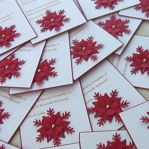 Jókívánság kártya, Otthon & Lakás, Karácsony & Mikulás, Karácsonyi képeslap, Papírművészet, Kedvenc idézeteddel ellátott dombormintás rátéttel készült jókívánság kártya, melyen Karácsony közel..., Meska