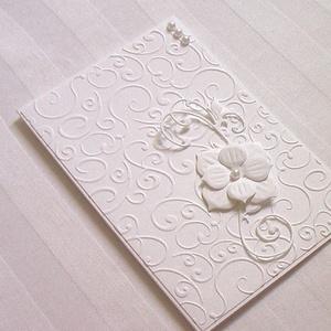 Meghívó, Meghívó, Meghívó & Kártya, Esküvő, Papírművészet, Kis méretű 10x15 cm nagyságú kinyitható üdvözlőlap, mely lehet meghívó, babahírmondó, jókívánságot k..., Meska