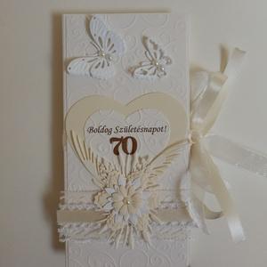 Natúr színekben születésnapra, Otthon & Lakás, Papír írószer, Ajándékkísérő, Papírművészet, Egyedi formájú, idézettel és személyes hangvételű üzenettel készült születésnapi gratuláló lap.  Az ..., Meska