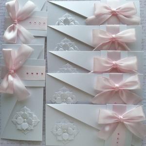 Meghívócsomag virággal, Játék & Gyerek, Babalátogató ajándékcsomag, Papírművészet, Gyöngyházfényű kartonból készült 7 db szokatlan formájú meghívó egy csomagban.\n\nHa más darabszámban ..., Meska