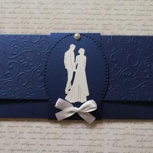 Kék szerelem pénzátadó boríték , Esküvő, Emlék & Ajándék, Nászajándék, Papírművészet, Meska