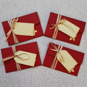 Kártyatartó ajándékátadó boríték, Otthon & Lakás, Papír írószer, Ajándékkísérő, Papírművészet, Pont Neked készült ez a típusú ajándékátadó miniboríték, ha szeretsz valamilyen plasztikkártyát aján..., Meska